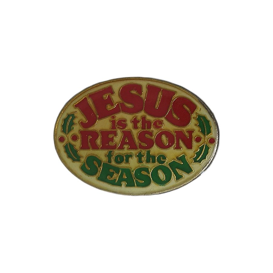 JESUS is the REASON for the SEASON ピンズ 留め具付き