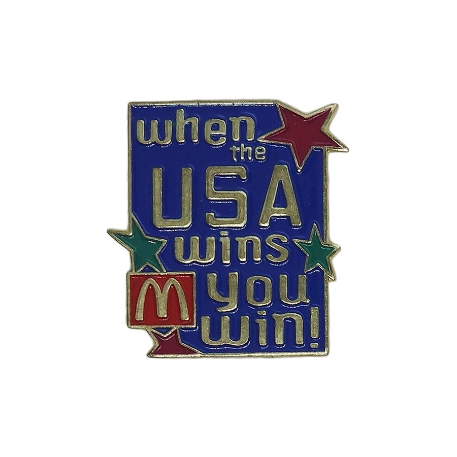 When the USA wins you win! マクドナルド ピンズ McDonald's