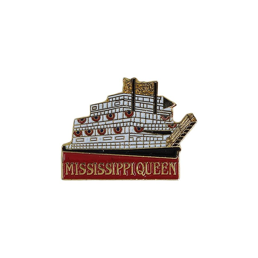 MISSISSIPPI QUEEN ピンズ 蒸気船 留め具付き
